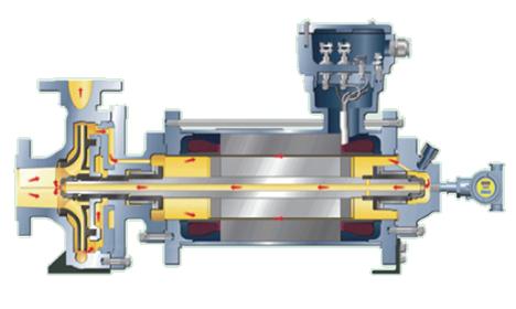 캔드 모터 펌프 – Hermetic 화학/석유화학용
